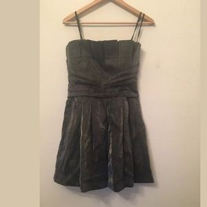 NWT $148 BCBGeneration Solid Gray Strapless dress
